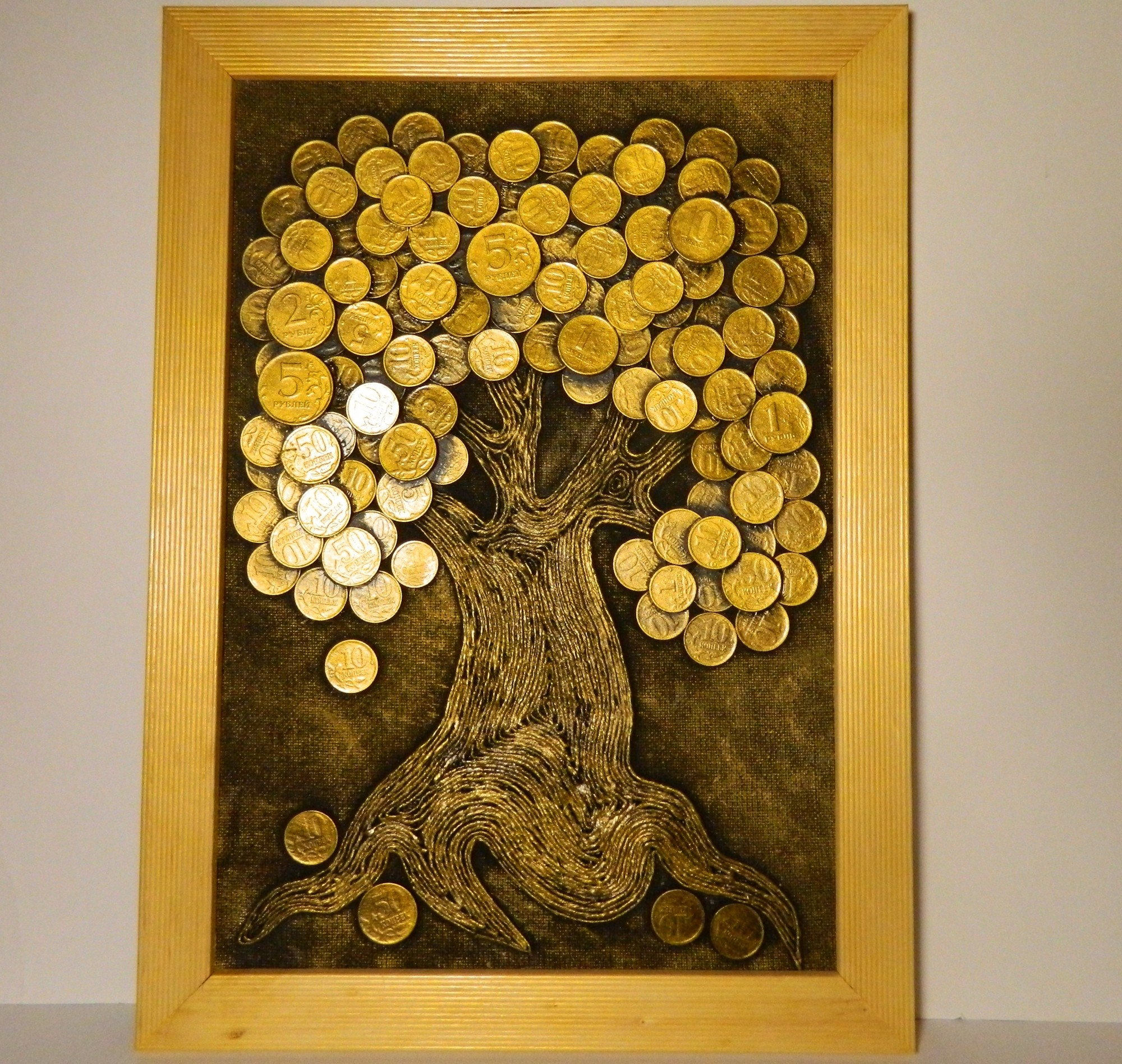 Деревья из денег сделанные своими руками на фото